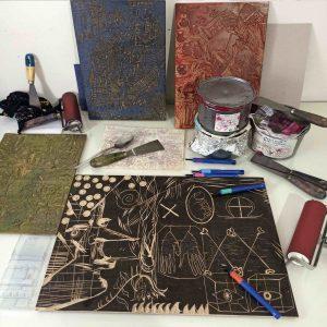 Χαρακτική: Εισαγωγή στην Ξυλογραφία // Intro to woodcut printmaking