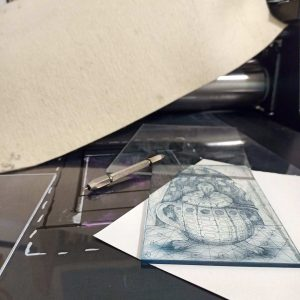 Χαρακτική: Βαθυτυπία σε πλεξιγκλάς// Intaglio on acrylic plate workshop